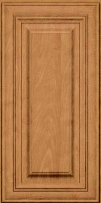 Square Raised Panel - Solid (AA1M) Maple in Ginger w/Sable Glaze - Wall