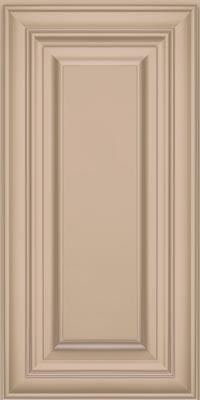 Square Raised Panel - Solid (AA1M1) Maple in Mushroom w/Coconut Glaze - Wall