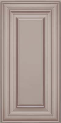 Square Raised Panel - Solid (AA1M) Maple in Pebble Grey w/ Cocoa Glaze - Wall