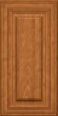 Square Raised Panel - Solid (AA1M) Maple in Praline w/Mocha Highlight - Wall