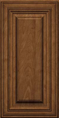Square Raised Panel - Solid (AA1M) Maple in Rye w/Onyx Glaze - Wall