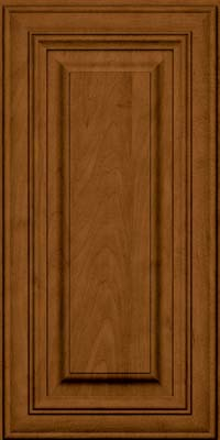 Square Raised Panel - Solid (AA1M) Maple in Rye w/Sable Glaze - Wall