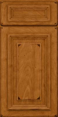 Square Raised Panel - Solid (AA3M) Maple in Burnished Golden Lager - Base