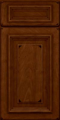 Square Raised Panel - Solid (AA3M) Maple in Burnished Chestnut - Base