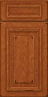 Square Raised Panel - Solid (AA3M) Maple in Burnished Cinnamon - Base