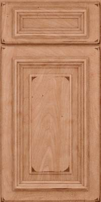 Square Raised Panel - Solid (AA3M) Maple in Burnished Ginger - Base