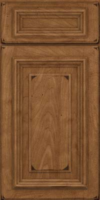 Square Raised Panel - Solid (AA3M) Maple in Burnished Rye - Base