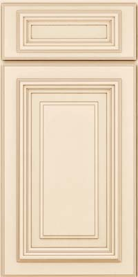 Square Raised Panel - Solid (AA3M) Maple in Canvas w/Cocoa Glaze - Base