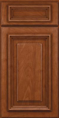 Square Raised Panel - Solid (AA3M) Maple in Chestnut - Base