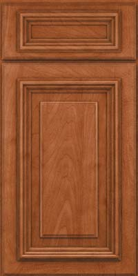 Square Raised Panel - Solid (AA3M) Maple in Cinnamon - Base
