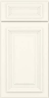 Square Raised Panel - Solid (AA3M) Maple in Dove White - Base
