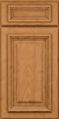 Square Raised Panel - Solid (AA3M) Maple in Ginger w/Sable Glaze - Base