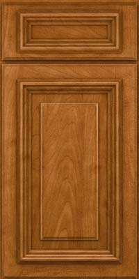 Square Raised Panel - Solid (AA3M) Maple in Golden Lager - Base