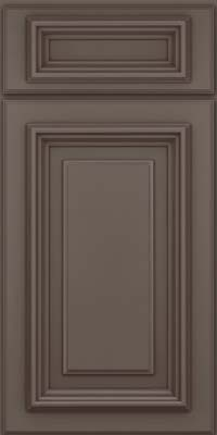 Square Raised Panel - Solid (AA3M) Maple in Greyloft w/ Sable Glaze - Base