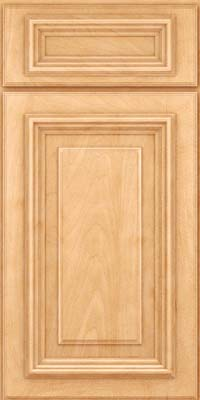 Square Raised Panel - Solid (AA3M) Maple in Honey Spice - Base