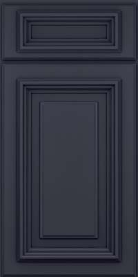 Square Raised Panel - Solid (AA3M) Maple in Midnight w/ Onyx Glaze - Base