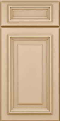 Square Raised Panel - Solid (AA3M) Maple in Mushroom - Base