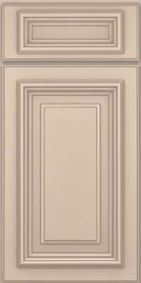 Square Raised Panel - Solid (AA3M) Maple in Mushroom w/ Cinder Glaze - Base