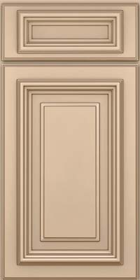 Square Raised Panel - Solid (AA3M) Maple in Mushroom w/Cocoa Glaze - Base