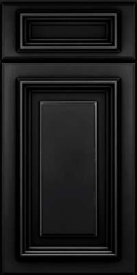 Square Raised Panel - Solid (AA3M) Maple in Onyx - Base