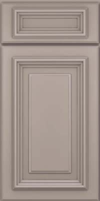 Square Raised Panel - Solid (AA3M) Maple in Pebble Grey - Base