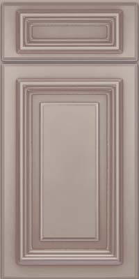 Square Raised Panel - Solid (AA3M) Maple in Pebble Grey w/ Cocoa Glaze - Base