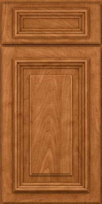 Square Raised Panel - Solid (AA3M) Maple in Praline w/Mocha Highlight - Base
