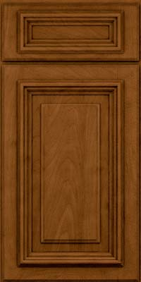 Square Raised Panel - Solid (AA3M) Maple in Rye w/Sable Glaze - Base