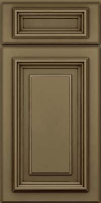 Square Raised Panel - Solid (AA3M) Maple in Sage w/Cocoa Glaze - Base
