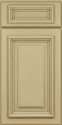 Square Raised Panel - Solid (AA3M) Maple in Willow w/Cocoa Glaze - Base