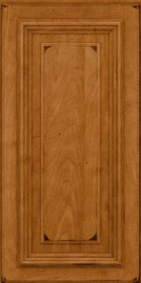 Square Raised Panel - Solid (AA3M) Maple in Burnished Golden Lager - Wall