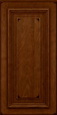 Square Raised Panel - Solid (AA3M) Maple in Burnished Chestnut - Wall