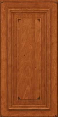 Square Raised Panel - Solid (AA3M) Maple in Burnished Cinnamon - Wall