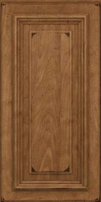 Square Raised Panel - Solid (AA3M) Maple in Burnished Rye - Wall