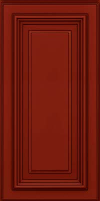 Harlowe Square (AA3M1) Maple in Cardinal w/Onyx Glaze - Wall