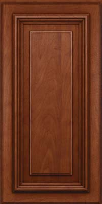 Square Raised Panel - Solid (AA3M) Maple in Chestnut w/Onyx Glaze - Wall