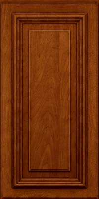 Square Raised Panel - Solid (AA3M) Maple in Cinnamon w/Onyx Glaze - Wall