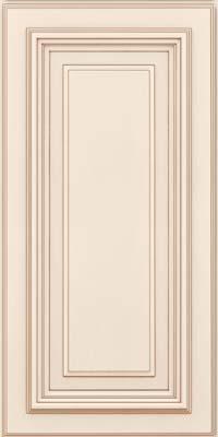 Square Raised Panel - Solid (AA3M) Maple in Dove White w/Cocoa Glaze - Wall