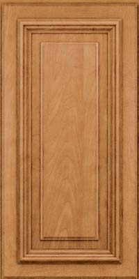Square Raised Panel - Solid (AA3M) Maple in Ginger w/Sable Glaze - Wall