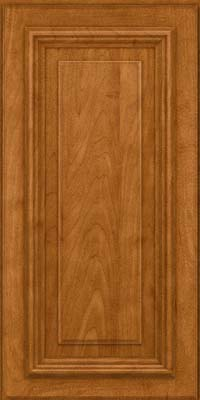 Square Raised Panel - Solid (AA3M) Maple in Golden Lager - Wall
