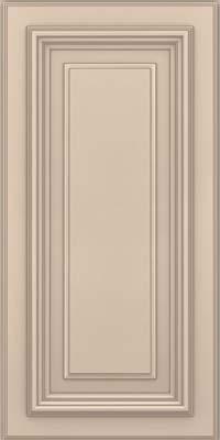 Square Raised Panel - Solid (AA3M) Maple in Mushroom w/ Cinder Glaze - Wall