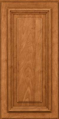 Square Raised Panel - Solid (AA3M) Maple in Praline w/Mocha Highlight - Wall