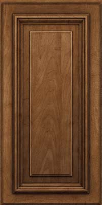 Square Raised Panel - Solid (AA3M) Maple in Rye w/Onyx Glaze - Wall