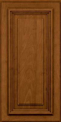 Square Raised Panel - Solid (AA3M) Maple in Rye w/Sable Glaze - Wall