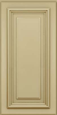 Square Raised Panel - Solid (AA3M) Maple in Willow w/Cocoa Glaze - Wall