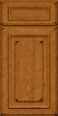 Square Raised Panel - Solid (AA4M) Maple in Burnished Golden Lager - Base