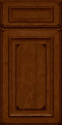 Square Raised Panel - Solid (AA4M) Maple in Burnished Chestnut - Base