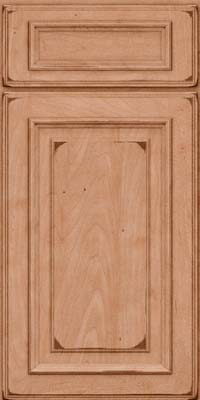 Square Raised Panel - Solid (AA4M) Maple in Burnished Ginger - Base