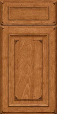 Square Raised Panel - Solid (AA4M) Maple in Burnished Praline - Base