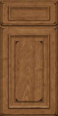 Square Raised Panel - Solid (AA4M) Maple in Burnished Rye - Base